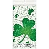En plastique Lucky trèfle St Patrick de Jour nappe, 7m x 4,5m