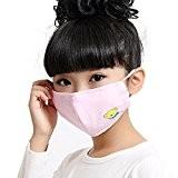 Enfants PM2.5 Anti-bactérienne Masque soins de santé Earloop Bouche Visage,rose