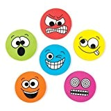 Ensemble de papeterie de gommes ornées de visages grimaçants, à offrir et à glisser dans les pochettes-surprises des enfants lors ...