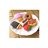 EQLEF® 6 pièces en forme de gâteau gomme séparable pour les petits étudiants de papeterie de gros créative