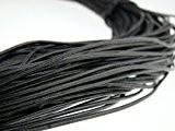Esnado Ficelle ronde en cuir 1mm Noir Plusieurs longueurs, Cuir, 5 mètres
