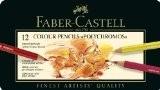 Faber-Castell 110012 Crayon Polychromos boîte métal de 12 pièces