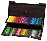 Faber-Castell 110013 Crayon de couleur Polychromos coffret bois de 120 pièces