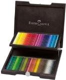 Faber-Castell 110072 Crayons de couleur Polychromos, coffret en bois wengé de 72 pièces