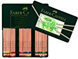 Faber-Castell 112160 Crayon PITT PASTEL boîte métal de 60 pièces