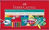 Faber-Castell 114415 Crayons aquarellables Coffret de 35 - pinceau inclus