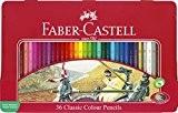 Faber-Castell 115846 Crayons de couleur hexagonal boite métal 36x