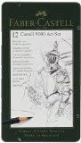 """Faber-Castell 119065 Set """"Art"""" de 12 crayons graphite CASTELL 9000"""