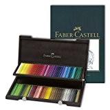 Faber-Castell 120Crayons de couleur POLYCHROMOS artiste avec étui en bois wengé et croquis Format A4Pad