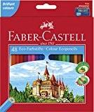 Faber-Castell 120148 CASTLE crayons de couleur hexagonal ECO, étui de 48