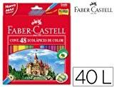 Faber-Castell 120148 Lot de 48 crayons et taille-crayon