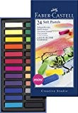 Faber-Castell 128224 Demi pastel carre tendre boîte de 24