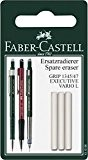 Faber-Castell 131596 - Gomme de rechange pour porte-mine GRIP 1345/1347, Lot de 3
