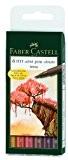 Faber-Castell 167106 Feutre PITT artist pen couleurs terre étui de 6