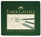 Faber-Castell Coffret de dessin graphite  18 pièces Étui métallique (Import Allemagne)