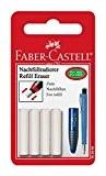 Faber Castell Pack de 4 Gommes de recharge Blanc