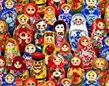 Fat Quarter Poupées Russes d'Odessa Coupons de tissu en coton Elizabeth de Studio