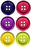 Favorite Findings Lot de 6boutons en plastique - Multicolore - 35mm