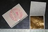 Feuille d'or 24 carats dans la base 100% authentique, 20 feuilles 45mm X 45 mm