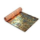 Feuille d'Or Panachée: Bleu 14 X14cm, Carnet de 25 Feuilles