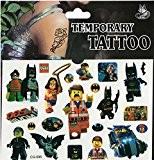 Feuille de Tatouages - Parfait pour les Pochettes Surprises - Reine des neige, Spiderman et bien d'autres - Film Lego