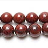 Fil De 38+ Rouge Jaspe Pavot 10mm Perles Rond - (GS1610-4) - Charming Beads