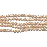 Fil De 44+ Crème Nacre 8mm Perles Rond - (GS11455-4) - Charming Beads