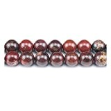 Fil De 60+ Rouge Jaspe Pavot 6mm Perles Rond - (GS1610-2) - Charming Beads