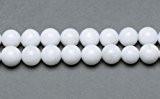 Fil De 62+ Blanc Jade Malaisien 6mm Perles Rond - (GS9963-2) - Charming Beads