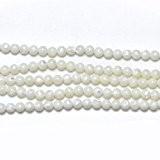 Fil De 95+ Blanc Nacre 4mm Perles Rond - (GS11453-2) - Charming Beads