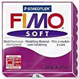 FIMO Pâte à modeler à cuire SOFT, pourpre, 56 g