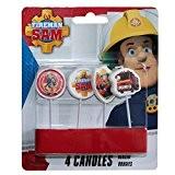 Fireman Sam - Party Set - Bougies - gâteaux décoration (4 pièces)