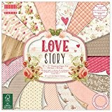"First Edition Pad Papier 12""x12"" Love Story"