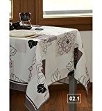FLAURENCE - Nappe anti-taches - Ovale 148x240cm