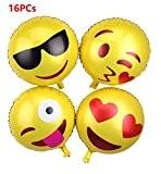 flintronic Lot de 16 Expression Ballon Réutilisable, Hélium Ballon Jaune, Décor pour Mariage/Fête/Anniversaire