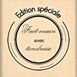 Florilèges Design FB108061 Tampon Scrapbooking Fait Main avec Tendresse Beige 4 x 4 x 2,5 cm