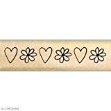 Florilèges Design FB115074 Tampon Scrapbooking Fleur et Coeur Beige 2 x 7 x 2,5 cm