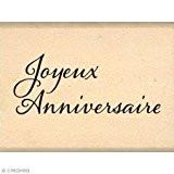 Florilèges Design FB115079 Tampon Scrapbooking Mini Anniversaire Beige 3 x 4 x 2,5 cm