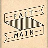 Florilèges Design FB213090 Tampon Scrapbooking Bannière Fait Main Beige 4 x 4 x 2,5 cm