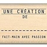 Florilèges Design FC112069 Tampon Scrapbooking Fait Main avec Passion Beige 3 x 6 x 2,5 cm