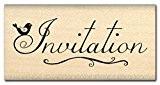 Florilèges Design FC410032 Tampon Scrapbooking Invitation Beige 3 x 6 x 2,5 cm
