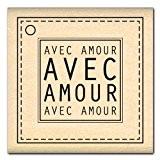 Florilèges Design FD112042 Tampon Scrapbooking avec Amour Beige 5 x 5 x 2,5 cm