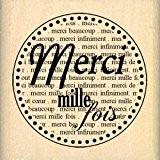 Florilèges Design FD208033 Tampon Scrapbooking Merci Mille Fois Beige 5 x 5 x 2,5 cm
