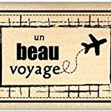 Florilèges Design FD210027 Tampon Scrapbooking Ticket Voyage Beige 4 x 7 x 2,5 cm
