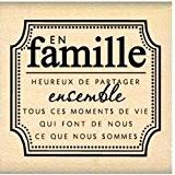 Florilèges Design FD210138 Tampon Scrapbooking en Famille Beige 5 x 5 x 2,5 cm