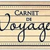 Florilèges Design FD210140 Tampon Scrapbooking Carnet de Voyage Beige 4 x 7 x 2,5 cm