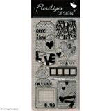Florilèges Design FDCL113003 Tampon Scrapbooking Clear Histoire d'Amour Gris 25 x 11,5 x 0,5 cm