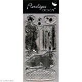 Florilèges Design FDCL113006 Tampon Scrapbooking Clear Cadeau Gourmand Gris 25 x 11,5 x 0,5 cm