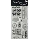Florilèges Design FDCL113012 Tampon Scrapbooking Clear Best Of 1 Gris 25 x 11,5 x 0,5 cm