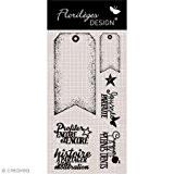 Florilèges Design FDCL115002 Tampon Scrapbooking Clear Tags Fanions Beige 25 x 11,5 x 0,5 cm